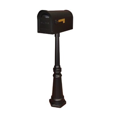 Classic Mailbox with Post Included Color: Black