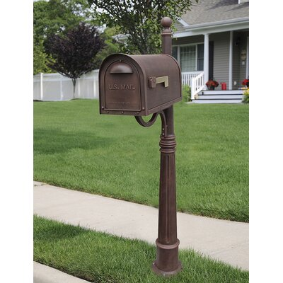 Classic Mailbox with Post Included Color: Copper