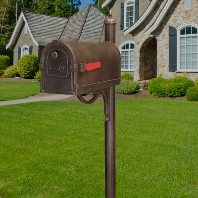 Savannah Post Mounted Mailbox with Rain Overhang Color: Copper