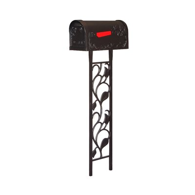 Hummingbird Curbside Mailbox with Post Included Color: Black