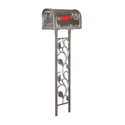 Hummingbird Curbside Mailbox with Post Included Color: Swedish Silver