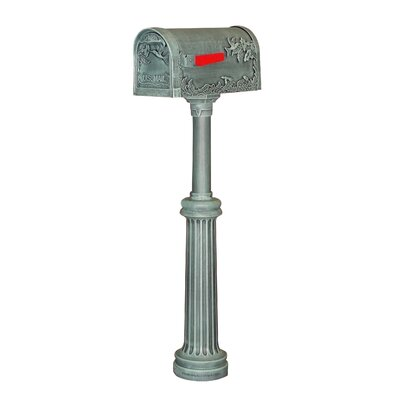 Hummingbird Curbside Mailbox with Post Included Color: Verde Green