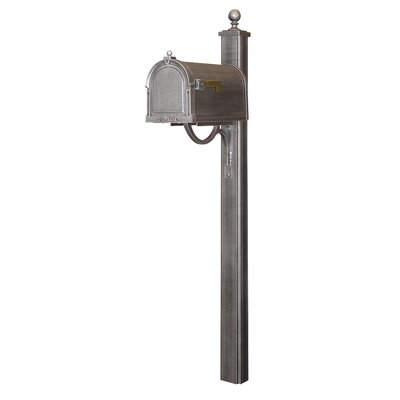 Berkshire Curbside Mailbox with Post Included Color: Swedish Silver
