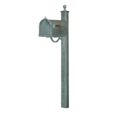 Berkshire Curbside Mailbox with Post Included Color: Verde Green