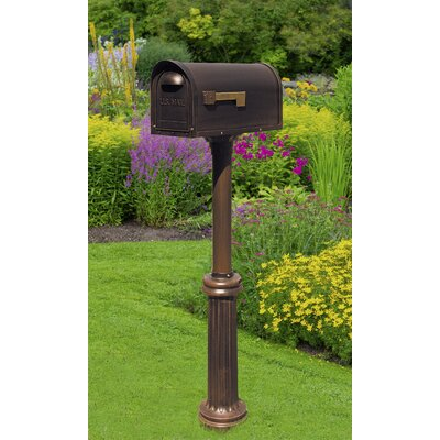 Classic Curbside Mailbox with Post Included Color: Copper