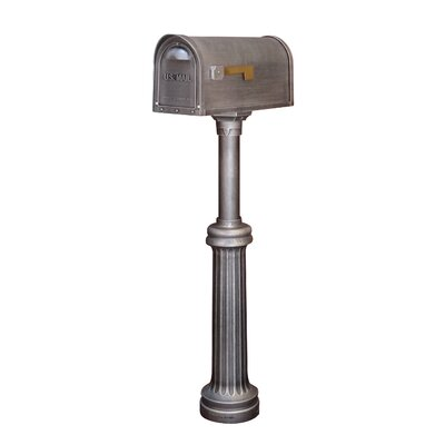 Classic Curbside Mailbox with Post Included Color: Swedish Silver