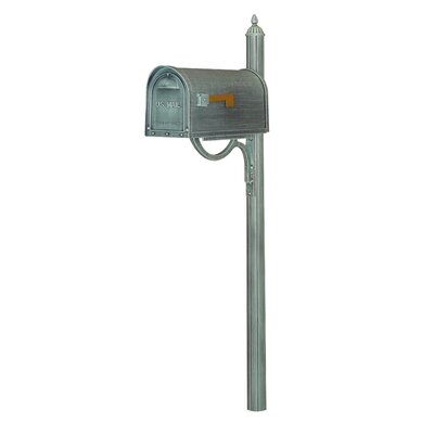Classic Curbside Mailbox with Post Included Color: Verde Green