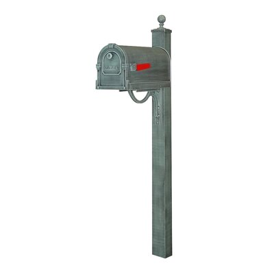 Savannah Curbside Mailbox with Post Included Color: Verde Green