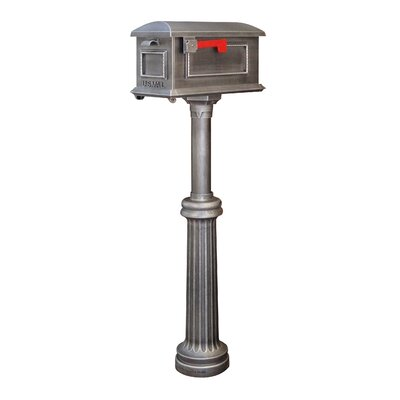 Traditional Curbside Mailbox with Post Included Color: Swedish Silver