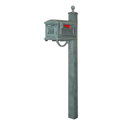 Traditional Curbside Mailbox with Post Included Color: Verde Green