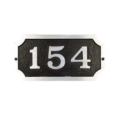 Traditional 1-Line Wall Address Plaque
