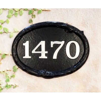 Floral 1-Line Wall Address Plaque