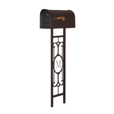 Classic Curbside Mailbox with Post Included Color: Black