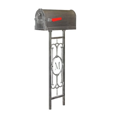 Savannah Curbside Mailbox with Post Included Color: Swedish Silver