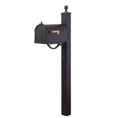 Berkshire Curbside Mailbox with Post Included Color: Black