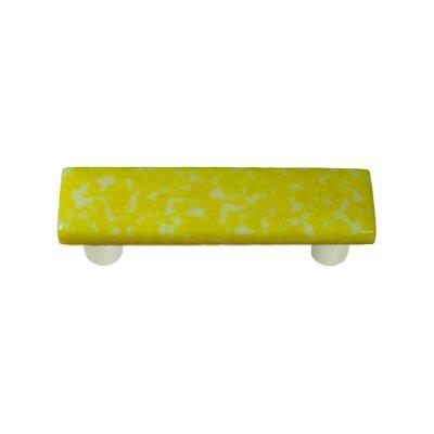 """Granite 3"""" Center Bar Pull Post Finish: Aluminum, Color: Sunflower Yellow & White"""