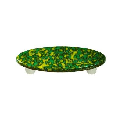 "Granite 3"" Center Bar Pull Post Finish: Aluminum, Color: Sunflower Yellow & Jade Green"