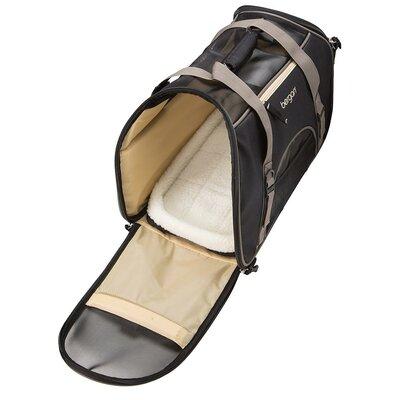 """Comfort Pet Carrier Size: Large (13"""" H x 10"""" W x 19"""" L), Color: Black"""