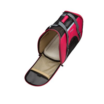 """Comfort Pet Carrier Size: Large (13"""" H x 10"""" W x 19"""" L), Color: Pinkish Red"""
