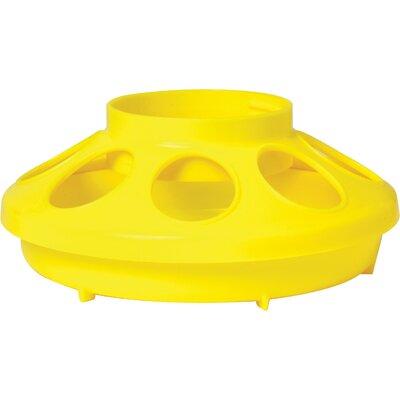 Chicken Feeder Base - 1 Quart Color: Yellow