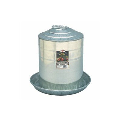 Double Wall Poultry Fountain Size: 2 Gallon