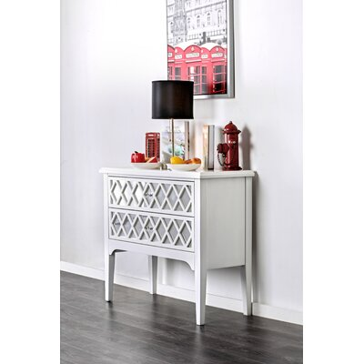 Binney 2 Drawer Accent Chest Color: White