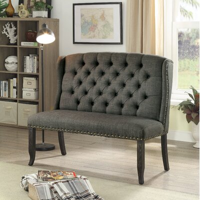Tennessee Upholstered Bench Upholstery: Gray