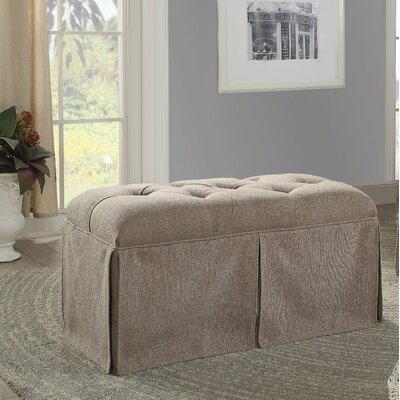 Angustain Upholstered Storage Bench Upholstery: Brown