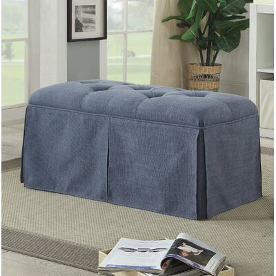 Angustain Upholstered Storage Bench Upholstery: Blue