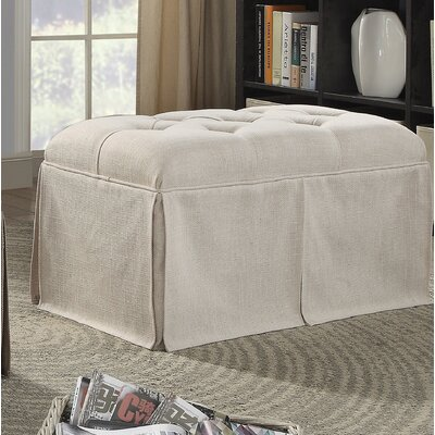 Angustain Upholstered Storage Bench Upholstery: Beige