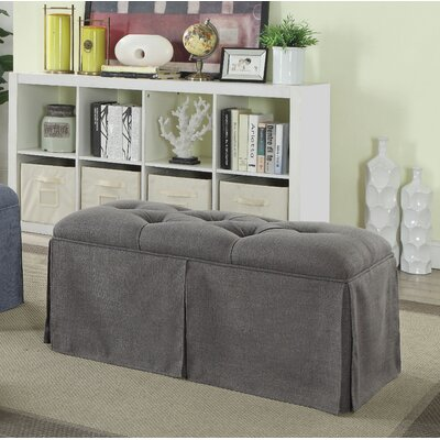 Angustain Upholstered Storage Bench Upholstery: Gray