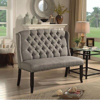 Tennessee Upholstered Bench Upholstery: Light Gray
