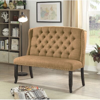 Tennessee Upholstered Bench Upholstery: Gold