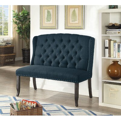 Tennessee Upholstered Bench Upholstery: Dark Blue