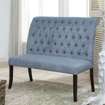 Tomasello Upholstered Bench Upholstery: Blue