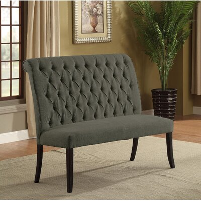 Tomasello Upholstered Bench Upholstery: Gray
