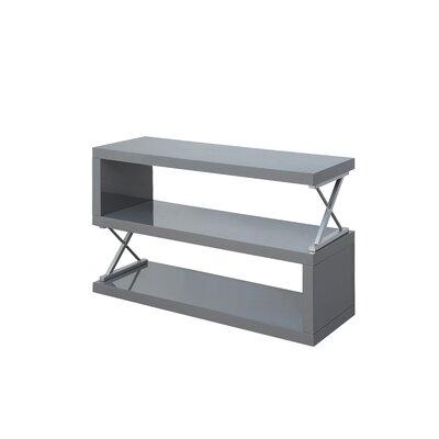 Parson 3 Shelf Standard Bookcase Color: Glossy Gray