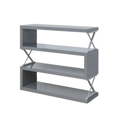 Parson 4 Shelf Standard Bookcase Color: Glossy Gray