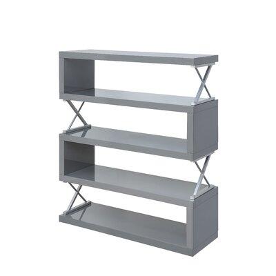 Parson 5 Shelf Standard Bookcase Color: Glossy Gray