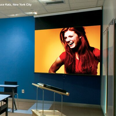"Luma with AutoReturn White 100"" diagonal Electric Projection Screen"