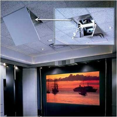 The Revelation Motorized Ceiling-Recessed Projector Mount Style: Model A, Plenum: Included