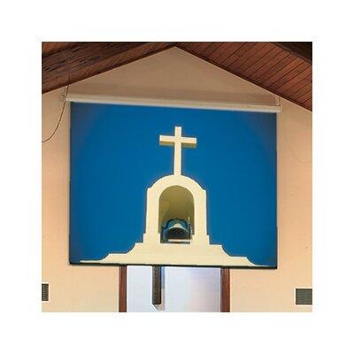 "Targa Matte White Electric Projection Screen Viewing Area: 144"" H x 192"" W"