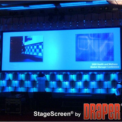 "StageScreen Black Portable Projection Screen Size / Format: 193"" diagonal / 16:9"