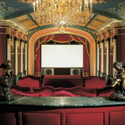 """Cineperm White Projection Screen Size: WideScreen - 99"""" Diag."""