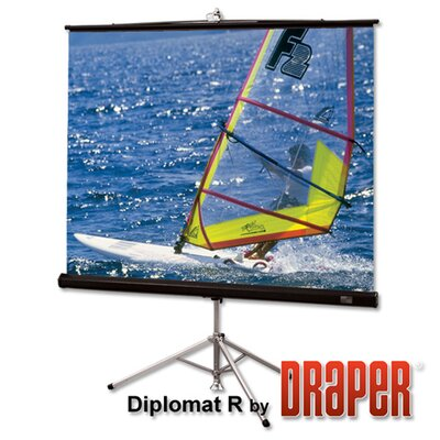 """Diplomat Matte White Portable Projection Screen Viewing Area: 72"""" H x 96"""" W"""