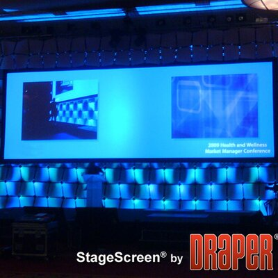 """StageScreen Matt White Portable Projection Screen Size / Format: 198"""" diagonal / 16:10"""