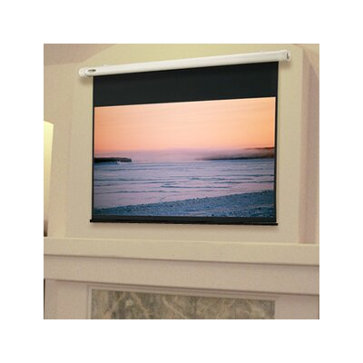 "Salara Plug & Play White Electric Projection Screen Size/Format: 100"" diagonal / 16:9"