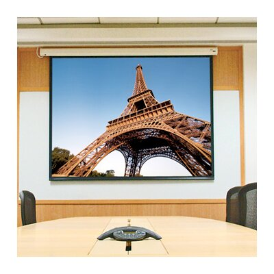 "Baronet White Electric Projection Screen Size/Format: 109"" diagonal / 16:10"