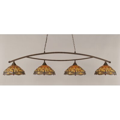Toltec Lighting Bow 4 Light Downlight Pool Table Light