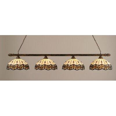 Toltec Lighting 4 Light Round Kitchen Island Pendant